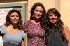 Eva Longoria with Andie MacDowell and Kate Del Castillo attend the ceremony celebrating LOreal 100th anniversary with a star on The Hollywood Walk Of Fame on October 20th 2009 in Hollywood California