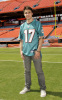 Kris Allen picture as he arrives at the Land Shark Stadium prior to his performance at the Miami Dolphins tailgate party on October 23rd 2009 11
