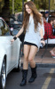 Miley Cyrus spotted leaving City Wok Chinese restaurant in Studio City on October 22nd 2009 1