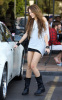 Miley Cyrus spotted leaving City Wok Chinese restaurant in Studio City on October 22nd 2009 2