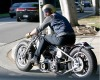 Brad Pitt spotted driving his new custom chopper around Beverly Hills on October 24th 2009 1