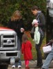 Suri Cruise and her mom Katie Holmes on the set of Toms new movie Wichita on October 24th 2009 in Woburn 1