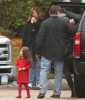 Suri Cruise and her mom Katie Holmes on the set of Toms new movie Wichita on October 24th 2009 in Woburn 3
