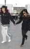 Nicole Scherzinger and Lewis Hamilton spotted getting into Heathrow Airport in London on October 25th 2009 6