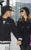 Nicole Scherzinger and Lewis Hamilton spotted getting into Heathrow Airport in London on October 25th 2009 3