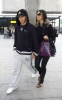 Nicole Scherzinger and Lewis Hamilton spotted getting into Heathrow Airport in London on October 25th 2009 2