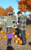 Tom Cruise with Katie Holmes and their daughter Suri seen getting a pumpkin at the Brooksby Farm in Massachusetts on October 25th 2009 2