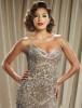 Eva Longoria desktop wallpaper wearing a glam beige dress