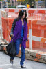 Courtney Cox spotted shopping in SoHo wearing a dark jeans pants and a light purple neck scarf on october 26th 2009 2
