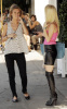 Heidi Montag and Audrina Patridge spotted at Cafe Midi at La Brea Avenue in Los Angeles filming an episode for their reality series The Hills on October 26th 2009 3