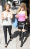 Heidi Montag and Audrina Patridge spotted at Cafe Midi at La Brea Avenue in Los Angeles filming an episode for their reality series The Hills on October 26th 2009 5