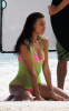 Irina Sheik spotted posing for a Victorias Secret photo shoot on the beach in St Barth on October 26th 2009 5