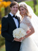 Ivanka Trump and Jared Kushner wedding photo from their private Jewish ceremony at the Trump National Golf Club in Bedminster New Jersey on October 25th 2009 6