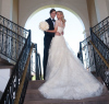 Ivanka Trump and Jared Kushner wedding photo from their private Jewish ceremony at the Trump National Golf Club in Bedminster New Jersey on October 25th 2009 4