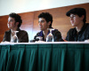 Jonas Brothers at a press conference in Santo Domingo Chile on October 25th 2009 2