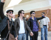 Jonas Brothers at a press conference in Santo Domingo Chile on October 25th 2009 1