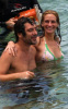 Julia Roberts and Javier Bardem spotted on the filming set swimming in the ocean on the coast of Bali on October 25th 2009