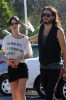 Katy Perry and her boyfriend Russell Brand spotted walking together in Los Angeles on October 26th 2009 4