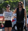 Katy Perry and her boyfriend Russell Brand spotted walking together in Los Angeles on October 26th 2009 6