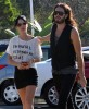Katy Perry and her boyfriend Russell Brand spotted walking together in Los Angeles on October 26th 2009 3