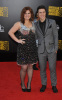 Kris Allen and Kelly Clarkson arrive at the 2009 American Music Awards on November 22nd 2009