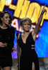 Keri Hilson and Toni Braxton speak onstage at the 2009 American Music Awards at Nokia Theatre LA Live on November 22nd 2009 in Los Angeles California 4