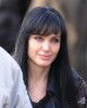 Angelina Jolie spotted wearing a black hair wig on the filming set of Salt on december 30th 2009 2