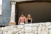 Leonardo DiCaprio and Bar Refaeli spotted together standing at a se view balcony in Cabo San Lucas Mexico on January 1st 2010 2