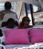 Beyonce Knowles spotted with her husband Jay Z on a yacht around the Caribbean at St Barth on December 31st 2009 3