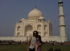 Russell Brand and Katy Perry photo while on a vacation in Agra India infront of Taj Mahal on December 29th 2009