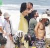 Hugh Jackman with Ana de la Reguera shooting a commercial on Grumari beach for Lipton Iced Tea on January 11th 2010 in Rio de Janeiro 6