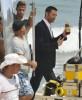 Hugh Jackman with Ana de la Reguera shooting a commercial on Grumari beach for Lipton Iced Tea on January 11th 2010 in Rio de Janeiro 5