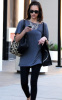 Jessica Alba spotted in Los Angeles on January 11th 2010 while checking her cell phone