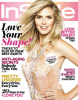 Heidi Klum on the cover of InStyle magazine of February 2010 issue 1