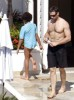 Hugh Jackman and Oscar Maximilian spotted at a hotel after a busy day at the beach on January 13th 2010 3