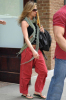 Jennifer Aniston spotted wearing flip flops in New York City on April 29th 2009 while wearing cute red pants 6