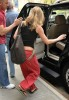 Jennifer Aniston spotted wearing flip flops in New York City on April 29th 2009 while wearing cute red pants 5
