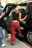 Jennifer Aniston spotted wearing flip flops in New York City on April 29th 2009 while wearing cute red pants 1