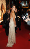 Penelope Cruz arrives at the screening of her new film Nine in Rome Italy on January 13th 2010 wearing a stylish Golden Beige dress 4
