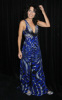 Lisa Edelstein at the 9th Annual Diamond Fashion Show Preview at the Beverly Hills Hotel in California on January 14th 2010 wearing a maxi blue dress 2