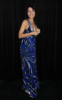 Lisa Edelstein at the 9th Annual Diamond Fashion Show Preview at the Beverly Hills Hotel in California on January 14th 2010 wearing a maxi blue dress 1