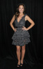 Minka Kelly at the 9th Annual Diamond Fashion Show Preview at the Beverly Hills Hotel in California on January 14th 2010 wearing a gray patterned dress 1