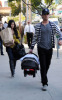 Kourtney Kardashian seen with her boyfriend Scott Disick and their son Mason Dash on January 14th 2010 as they  head to a medical building in Beverly Hills 2