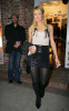 Paris Hilton spotted on her way to an art show wearing a mini leather skirt on January 14th 2010 in West Hollywood 1