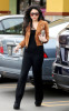 Vanessa Hudgens picture while spotted shopping on January 15th 2010 around Studio City wearing a mini honey brown jacket and balack outfit 6