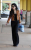 Vanessa Hudgens picture while spotted shopping on January 15th 2010 around Studio City wearing a mini honey brown jacket and balack outfit 3