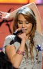 Miley Cyrus performing on stage on January 19th 2009 at the Kids Inaugural We Are the Future concert 4