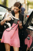 Ashley Greene photo wearing a pink dress as she walks her cute dog on January 15th 2010 in West Hollywood 4