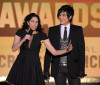 Sarah Silverman and Adam Lambert present the Best Comedy award during the 15th annual Critics Choice Movie Awards on January 15th 2010 at the Hollywood Palladium 2