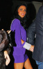 Katie Price was spotted in a stylish purple dress infront of the Mayfair Hotel  in London England on January 16th 2010 to attend an engagement party 3